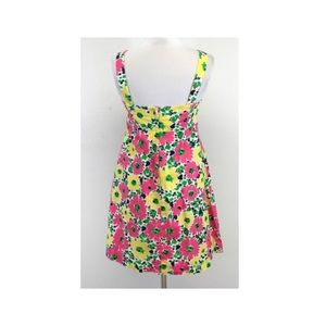 Lilly Pulitzer Dresses - Pink yellow & green floral cotton Lilly dress